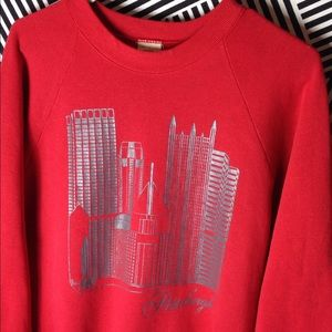Vintage Pittsburgh City print Crewneck Sweatshirt